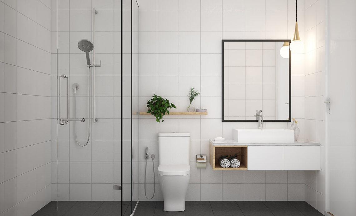 projekt minimalistycznej łazienki